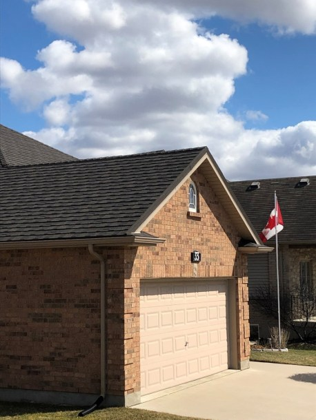 Strathroy Ontario home with metal shingle roofing