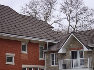 Aylmer metal roofing Boral Steel Pinecrest Shake charcoal