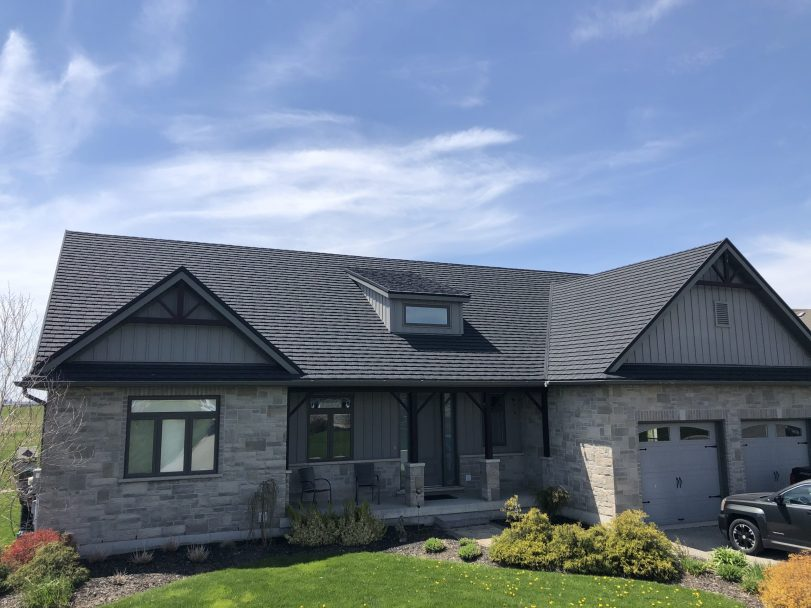 Charcoal CF Shingle roofing from Metal Roof Outlet
