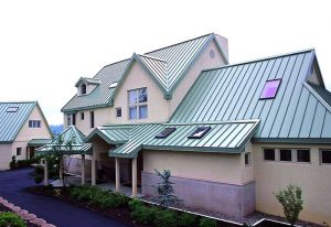 green color standing seam metal roof