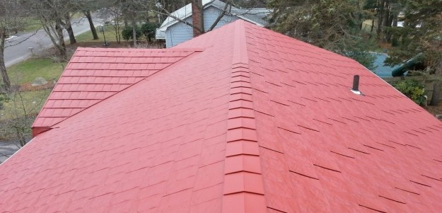 Tamko Metalworks - metal shingles roof on a ranch