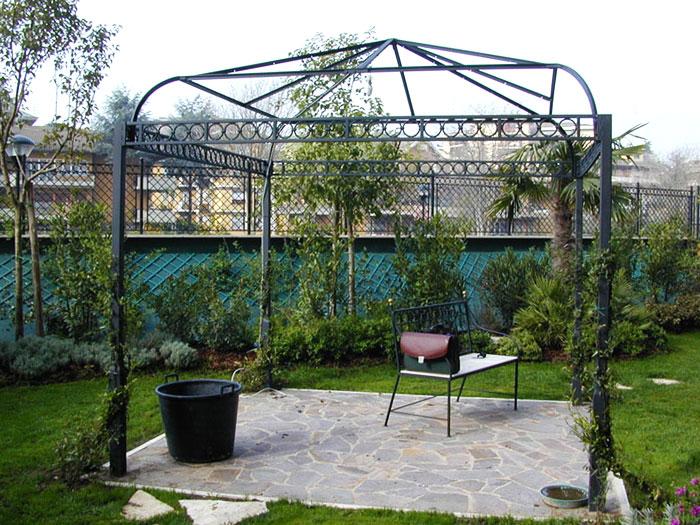 Strutture in ferro metal tende for Decorazioni in ferro per giardino