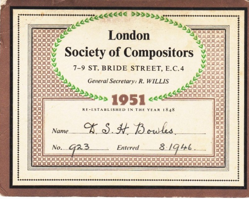 London Society of Compositors 1951