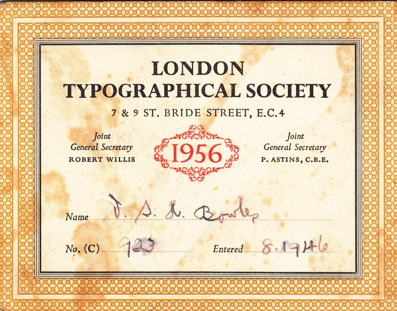 London Typographical Society 1956