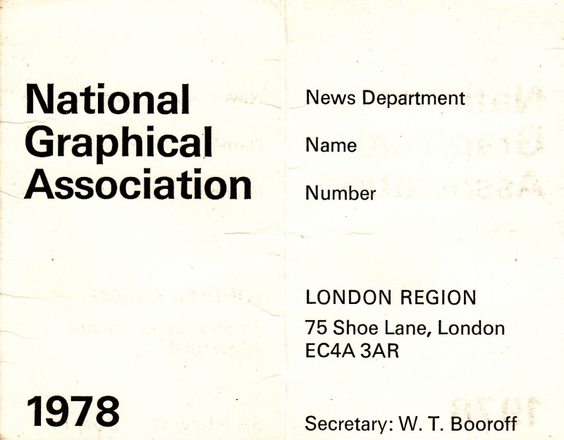 National Graphical Association 1978