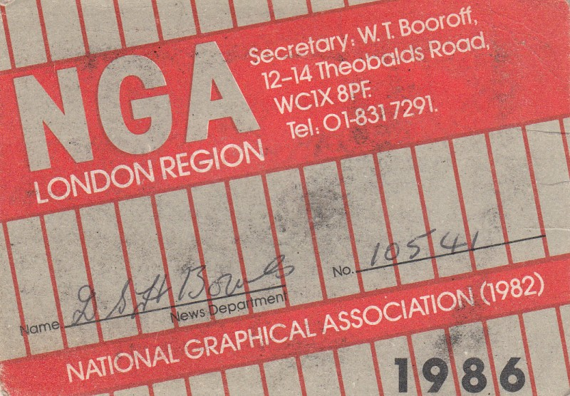 National graphical Association 1986