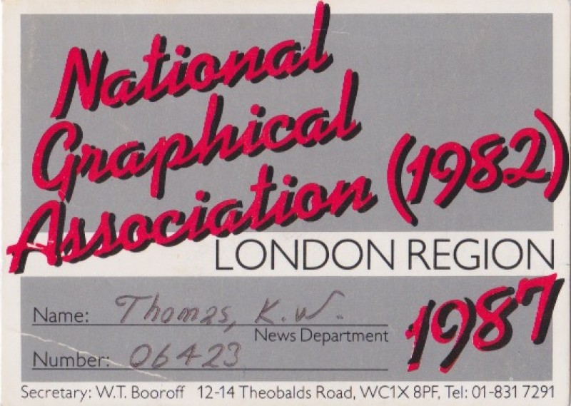 National Graphical Association 1987
