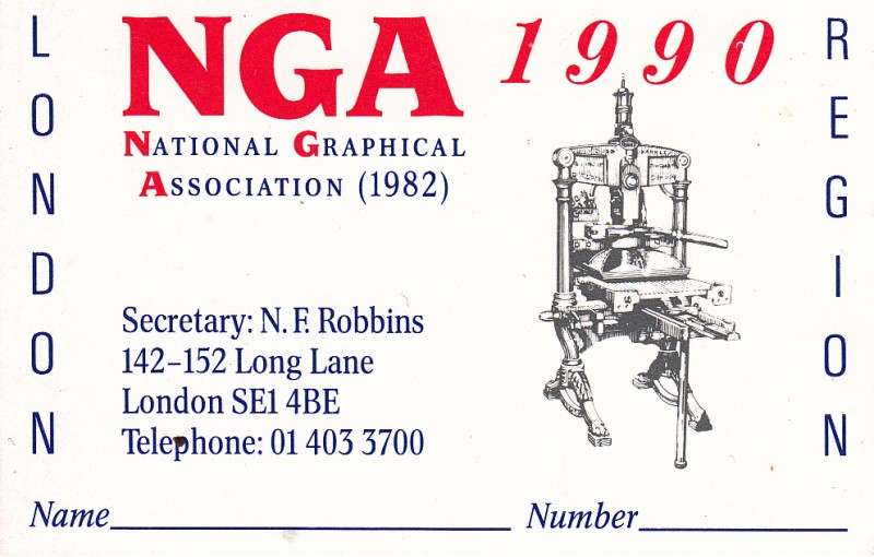 National Graphical Association 1990