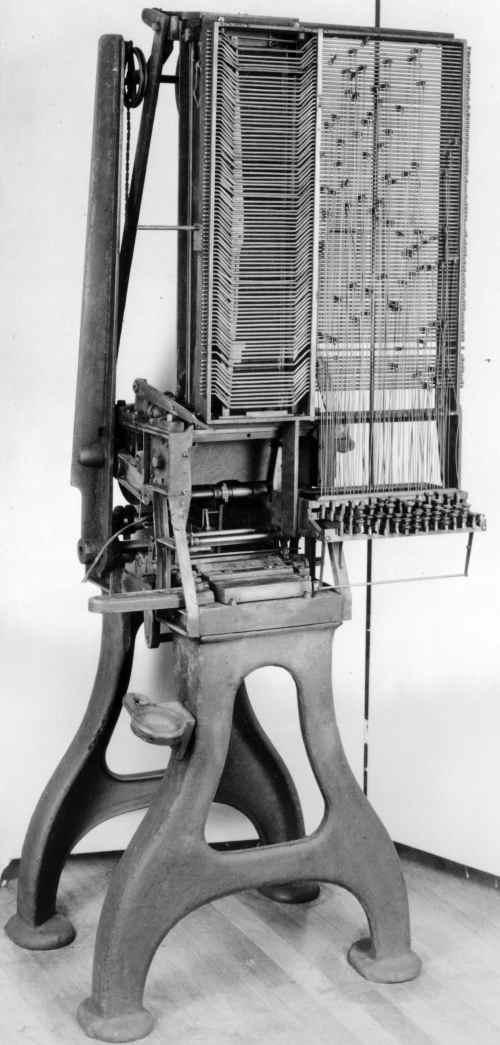 Mergenthaler's First Band Machine 1884