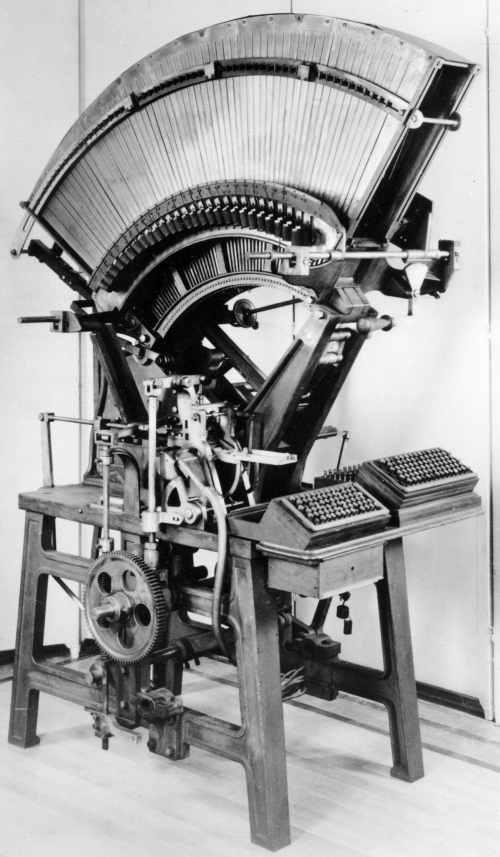 Mergenthaler Matrix Making Machine 1891