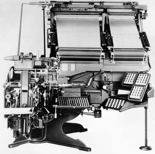 Blue Streak Model 36 display mixer — Linotype's largest machine