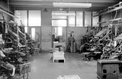 Linotype Department