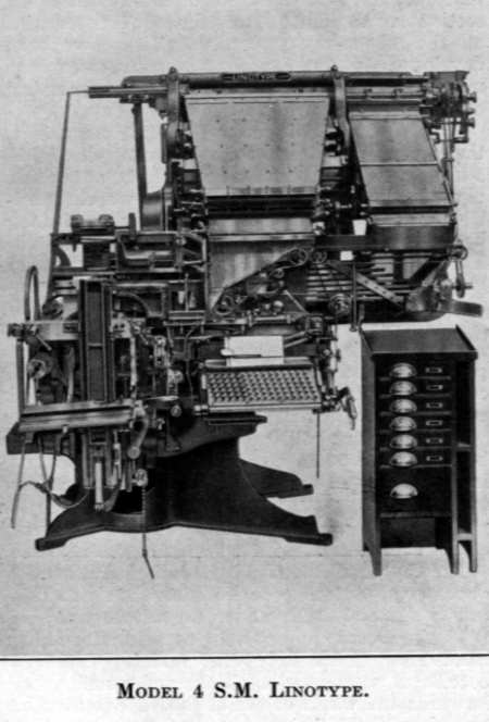 Linotype Model 4 with Side Magazines