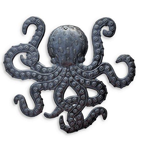 "41/"" Decorative Octopus Metal Wall Art Hanging Home Decor Sea Life Sculpture"