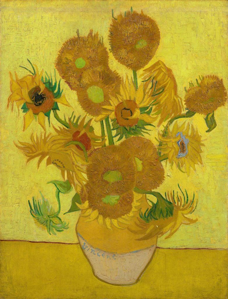 Vincent van Gogh, Still Life: Vase with Fifteen Sunflowers, 1888.