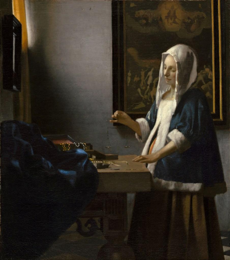 Johannes Vermeer, Woman Holding a Balance, 1662.