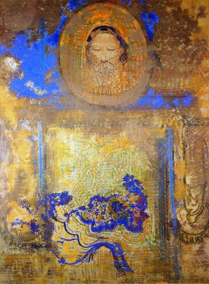 """Evocation"" by Odilon Redon - The Athenaeum, Public Domain"
