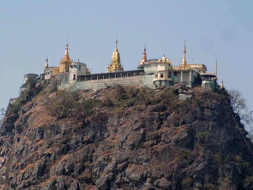 A TEMPLE ON MT. PUPA IN BURMA
