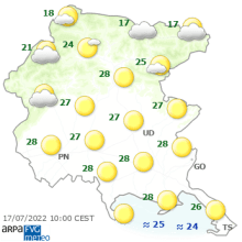 meteo Friuli-V.G. adesso