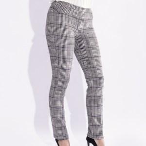 pantaloni a quadri donna