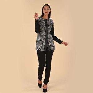 Giacca zebrata Meteore Fashion un classico black & white