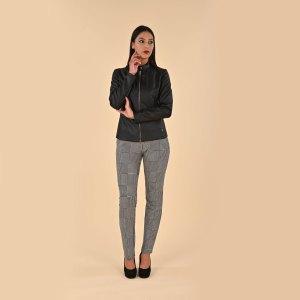 Pantalone invernale stretch in maglia fantasia