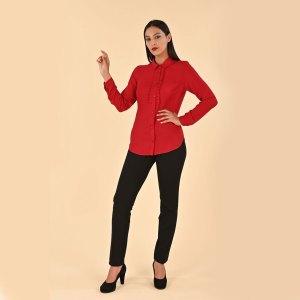 Camicia tinta unita Meteore Fashion con bavero a pieghe
