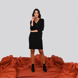 Abito Meteore Fashion con rouges in pailletes sul davanti Meteore Curvy Fashion