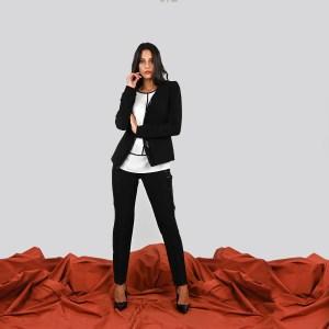 Pantalone elasticizzato con inserto in paillettes Meteore Curvy Fashion