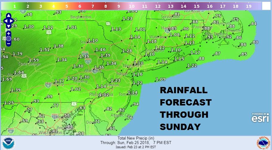 Showers Moving Northeast Gloomy Weekend