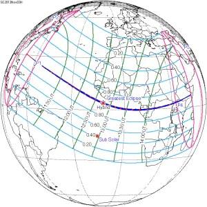 L'eclissi di domani