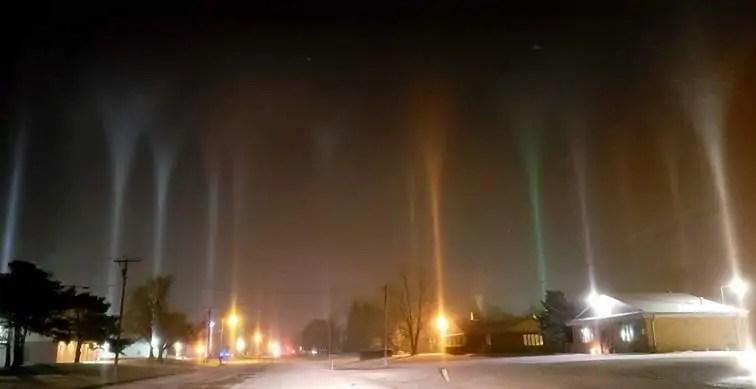 pilastri di luce wisconsin