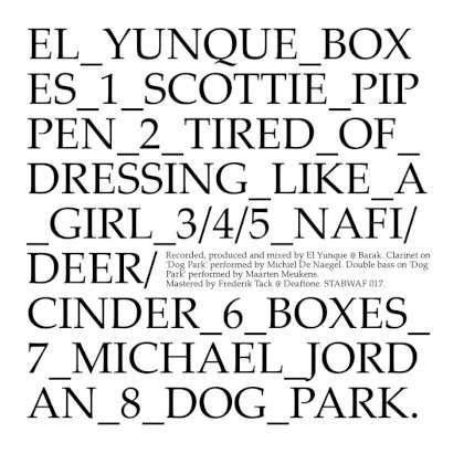 El Yunque - Boxes cover