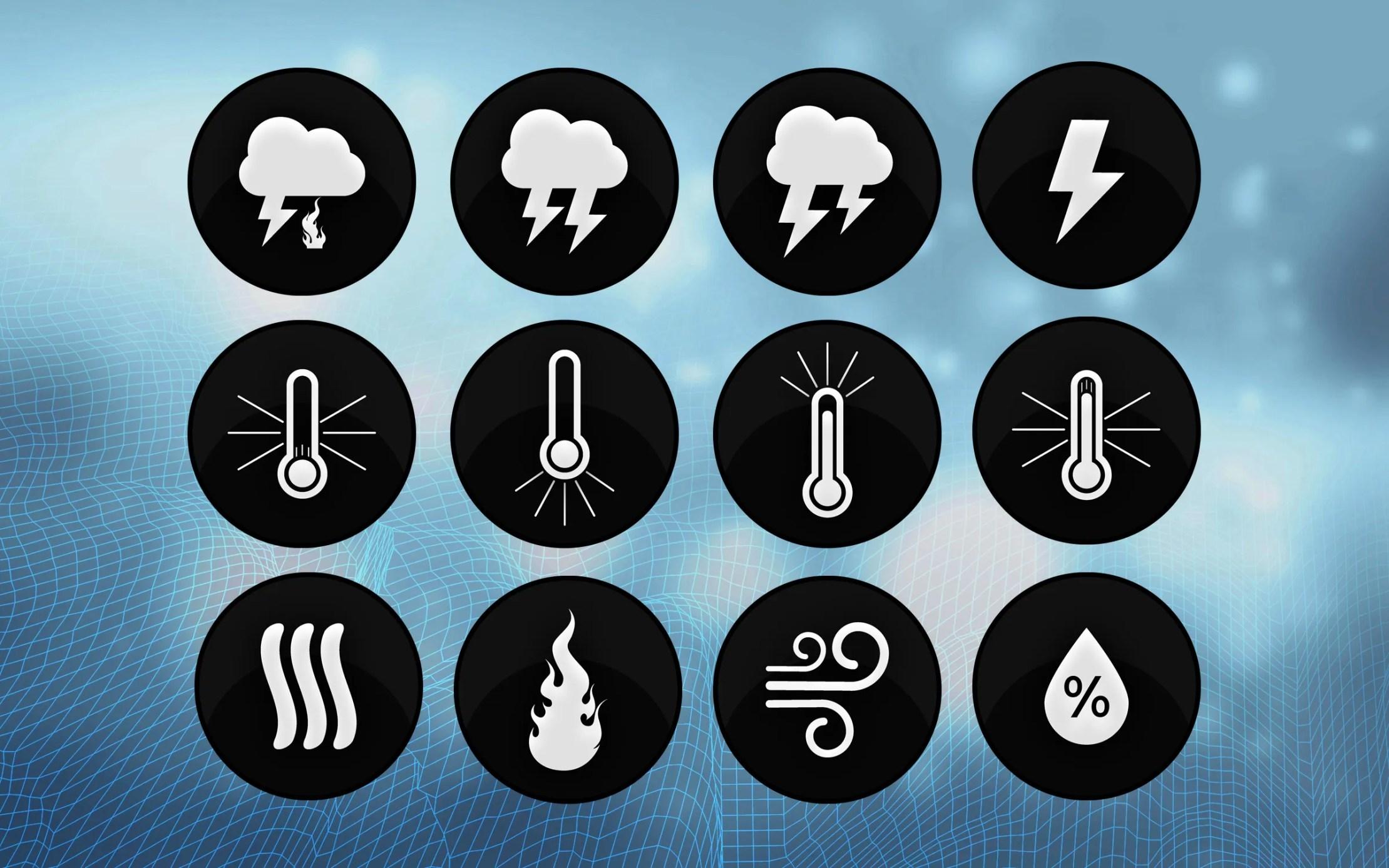 Extreme Weather Icons Weather Forecast Graphics Metgraphics