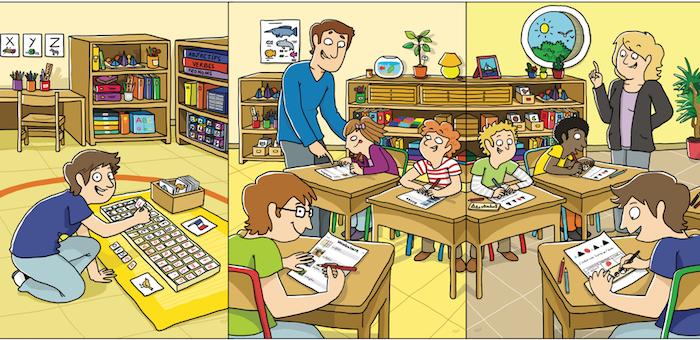 Montessori workbooks