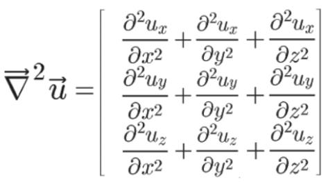 Formule du Laplacien vectoriel en cartésiennes