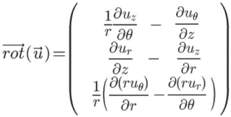 rotationnel coordonnées cylindriques