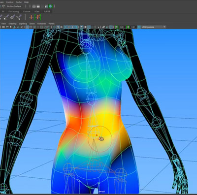how to rig in maya paint skin weights screen
