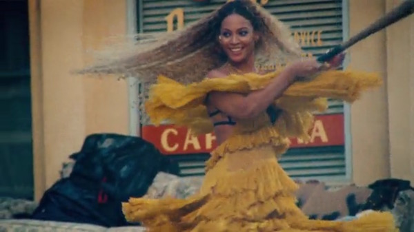 beyonce lemonade visual album baseball bat yellow dress