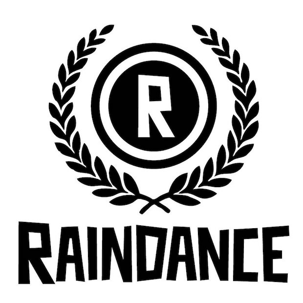Raindance Film festival logo. The letter 'r' in a circle in another circle with the word raindance written beneath it