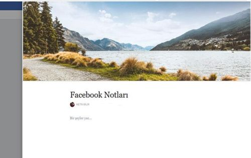 Facebook Notları Kullanın