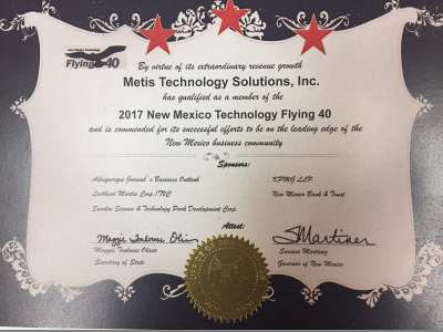 Metis New Mexico 2017 Flying 40