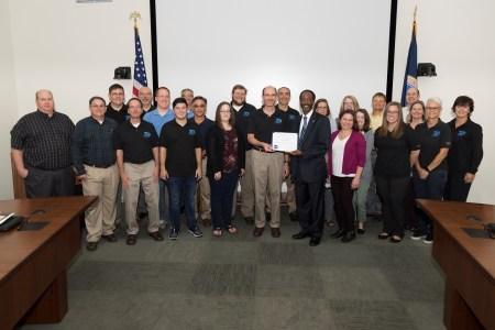 Metis Staff Receive NASA Langley Transformer Award