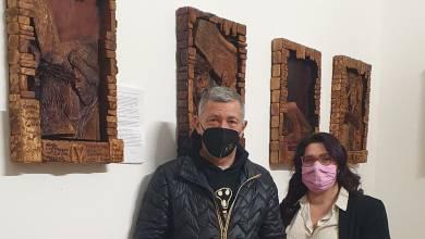 Photo of Locri: esposta in comune la Via Crucis in legno di Paolo Campolo