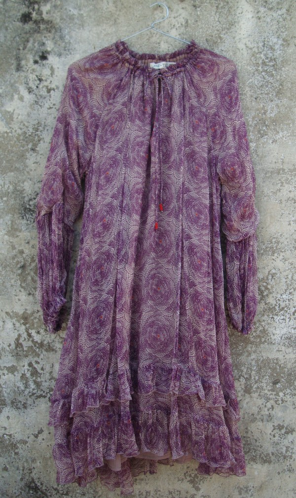 Robe Clémence-Purple Flower