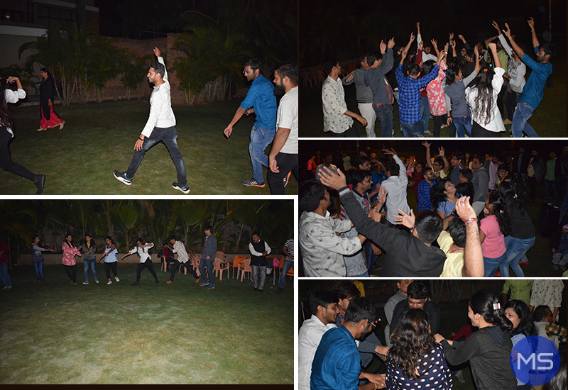 Team Metizsoft Playing Garba