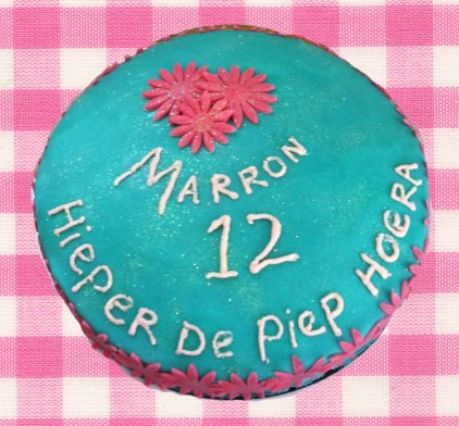 Taartje Marron 12