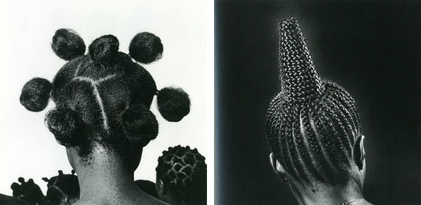 J.D. 'Okhai Ojeikere (Nigerian, 1930–2014), Untitled (Modern Suku); Untitled (Mkpuk Eba)
