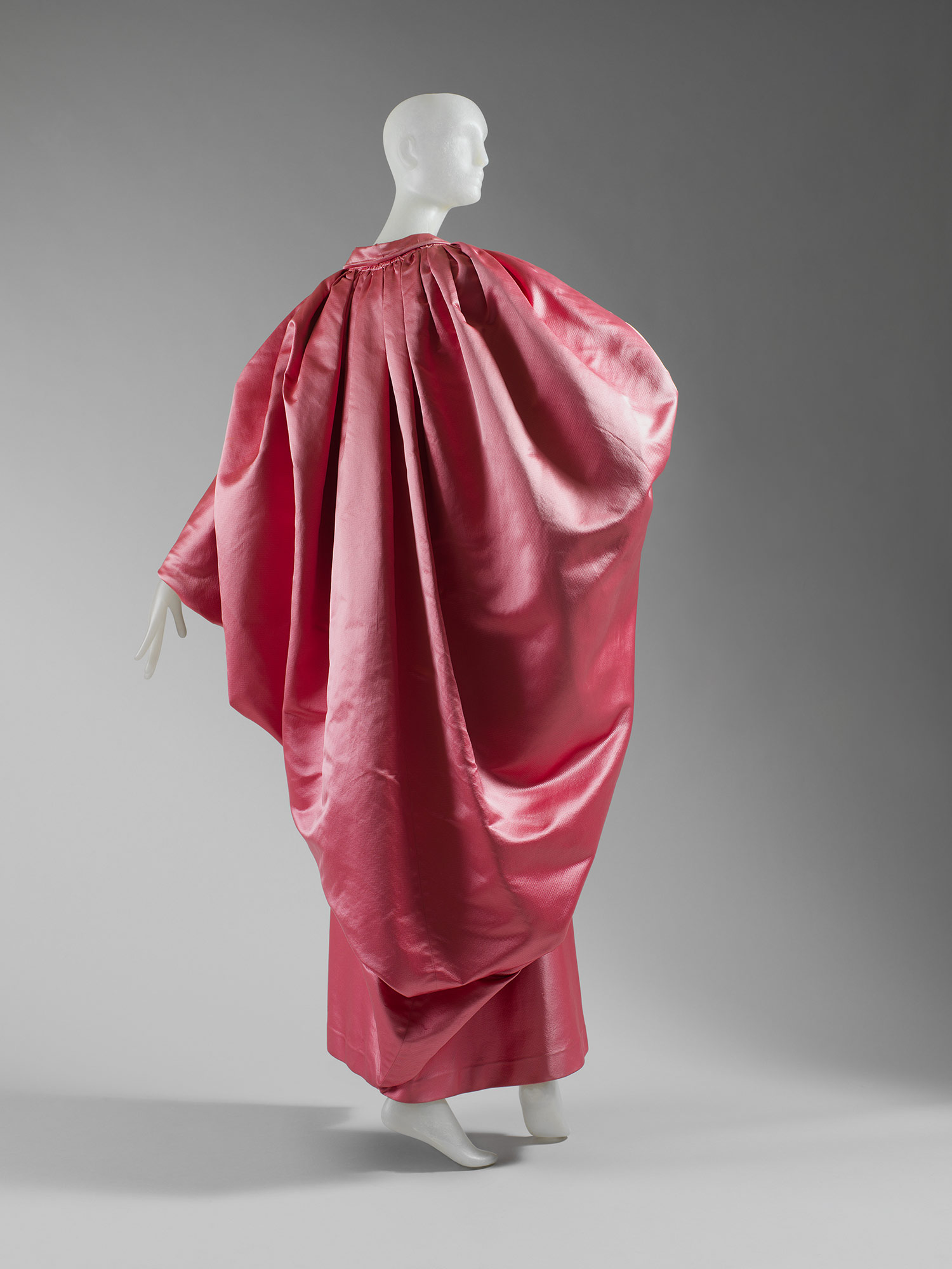 1950s pink Balenciaga evening wrap in the collection of the Costume Institute
