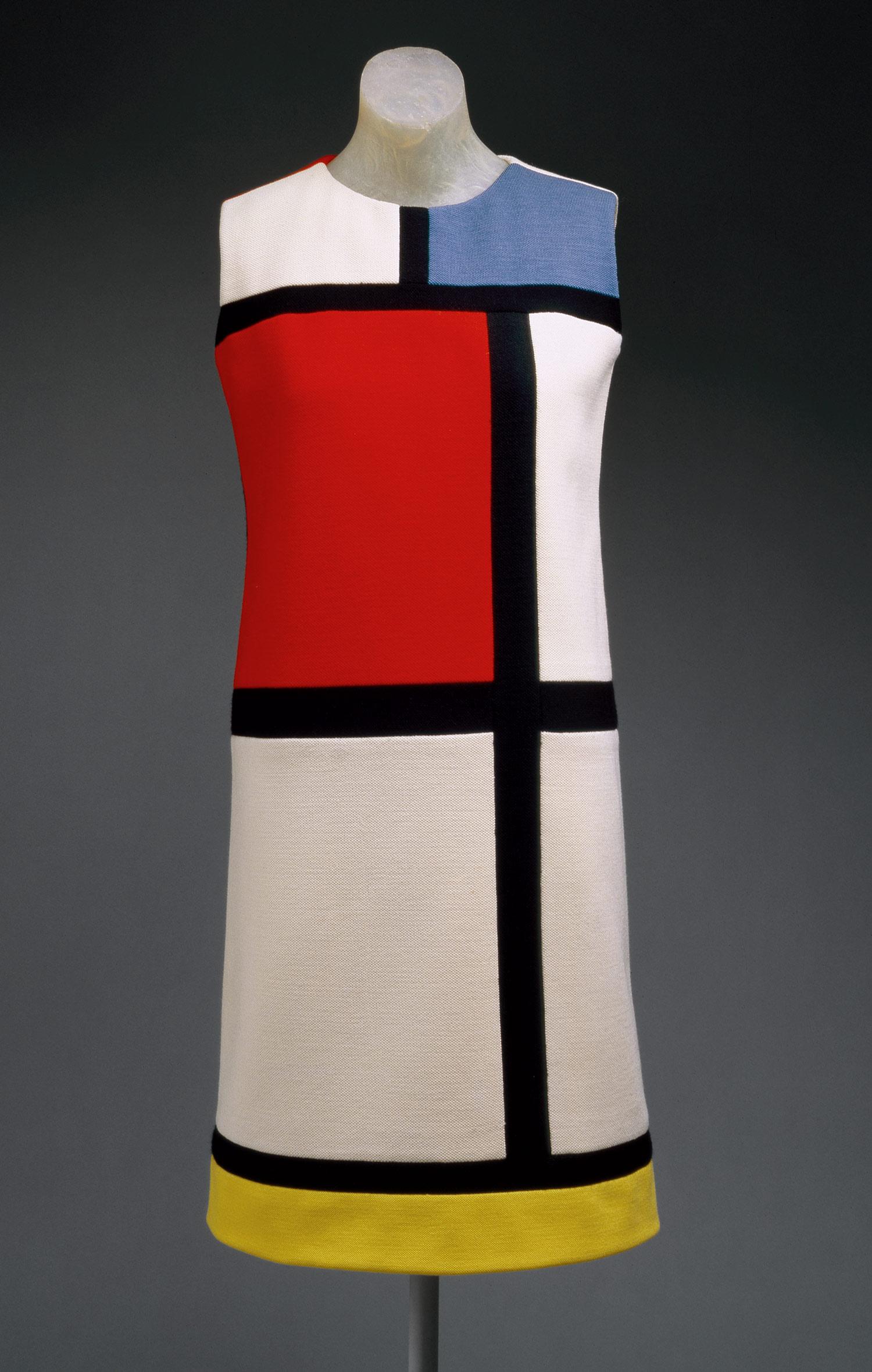 La robe Mondrian, création de Yves Saint-Laurent